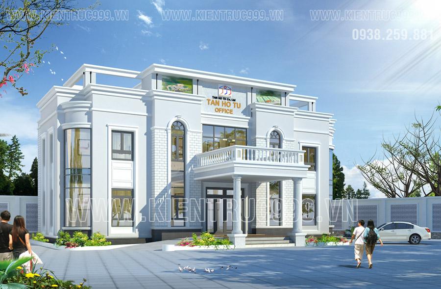 Dự án Trụ sở công ty Tân hồ tú tại Bình dương kiến trúc bán cổ điển
