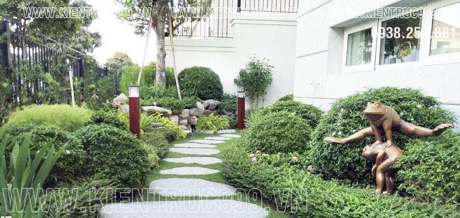 Cóc trang trí sân vườn theo phong thủy