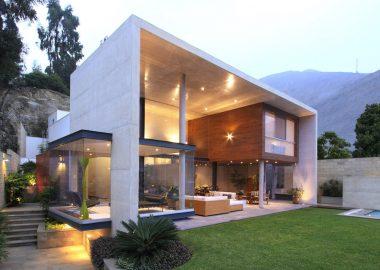 Kiến trúc biệt thự 2 tầng nước ngoài gây ấn tượng mạnh mẽ