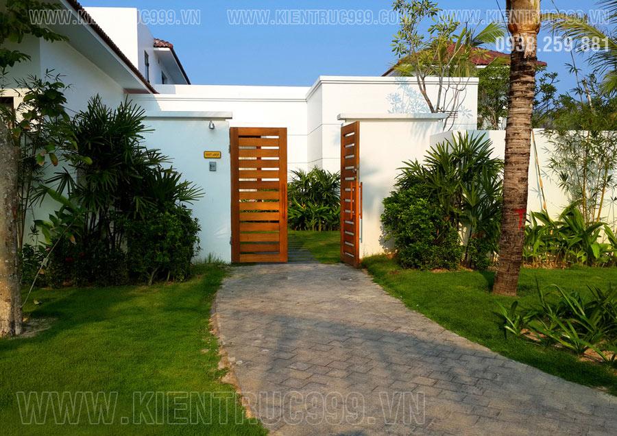 Cổng và cách bố trí hợp phong thủy sân vườn