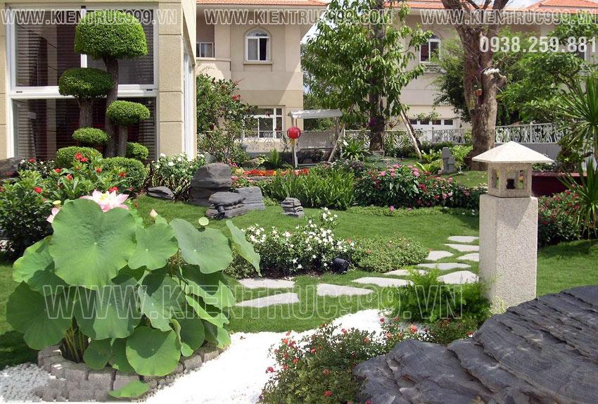 Cách bố trí lối đi vào sân vườn theo phong thủy