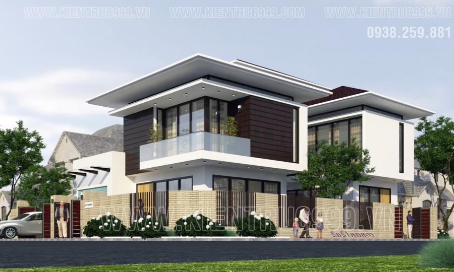 Mẫu nhà 2 tầng đẹp hiện đại đơn giản đến tối giản