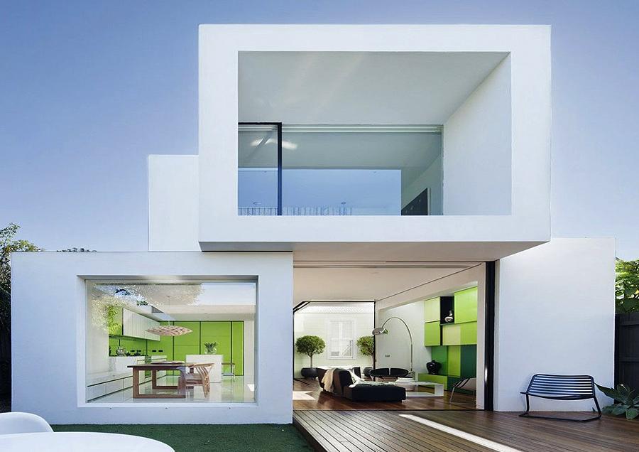 Thiết kế nhà ở 2 tầng ở nước ngoài kiến trúc hiện đại