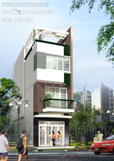 Bản vẽ nhà lệch tầng 4m x 13.5m - quận Gò Vấp