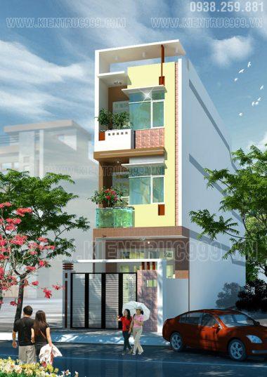 Thiết kế nhà lệch tầng 4x20m đẹp - Quận Tân Phú
