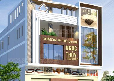 Thiết kế showroom kết hợp nhà ở Ngọc Thủy - Bình Định