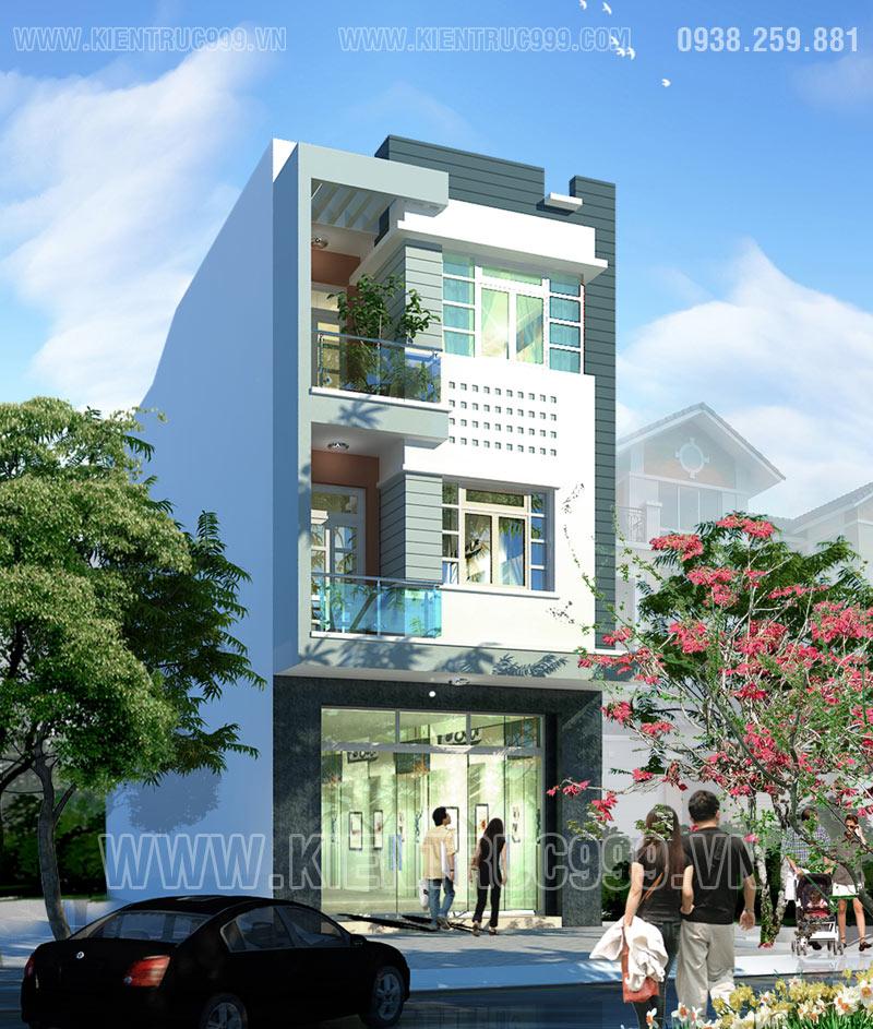 Nhà phố lệch tầng 6x15m hiện đại