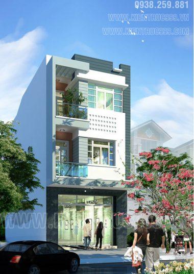 Nhà phố lệch tầng 6x15m hiện đại - Nhà phố 6m Buôn Mê