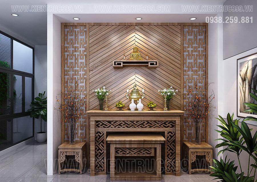Cửa vào phòng thờ không đặt đối diện cửa ra vào