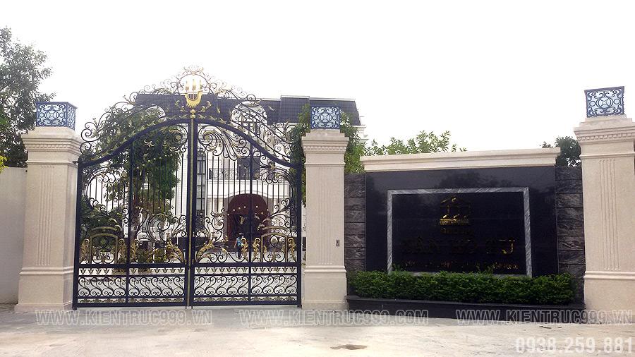 Phong thủy cổng và cửa chính cho biệt thự