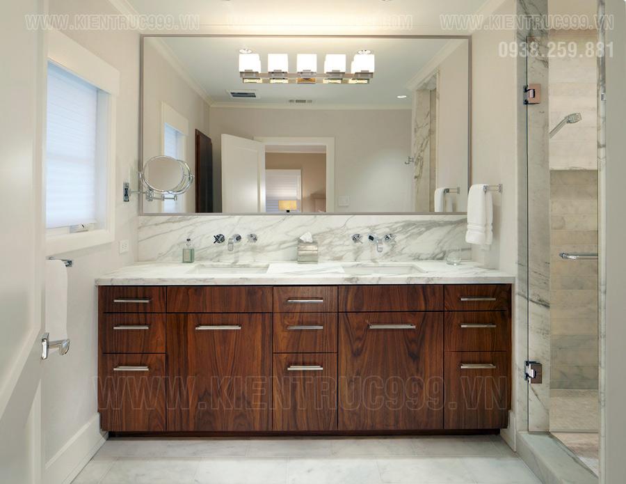 Gương trong nhà tắm kỵ soi vào thiết bị nhà về sinh