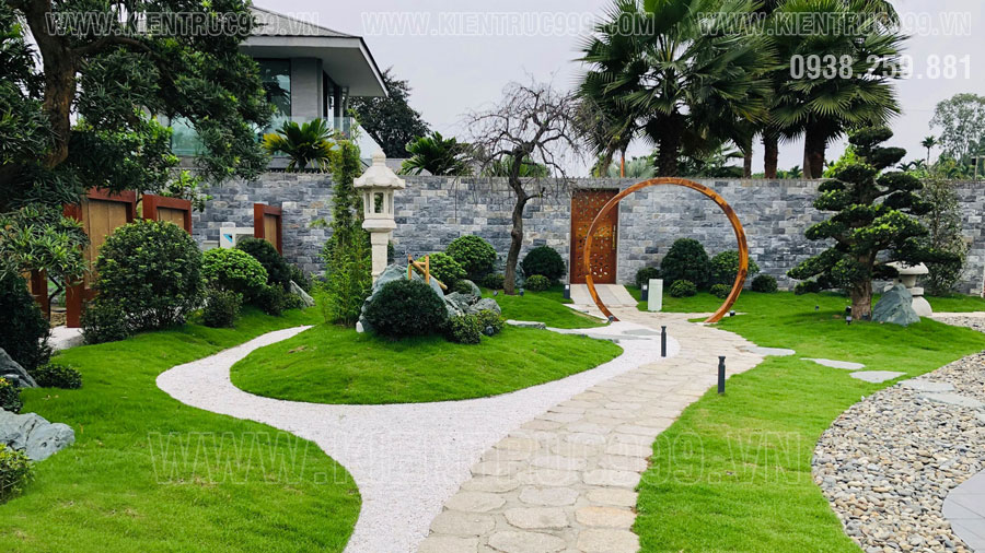 Hướng sân vườn theo phong thủy
