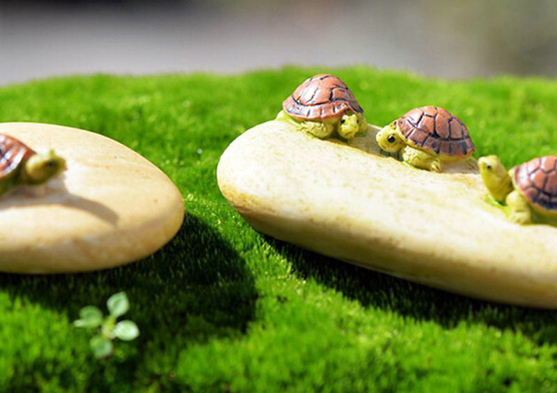 Đặt tượng đá con rùa trong sân để tạo thế huyền vũ