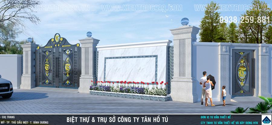 kích thước trụ cổng nhà, cửa cổng theo phong thủy