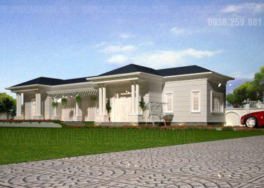 3 mẫu biệt thự 1 tầng đẹp tân cổ điển thiết kế cực chuẩn