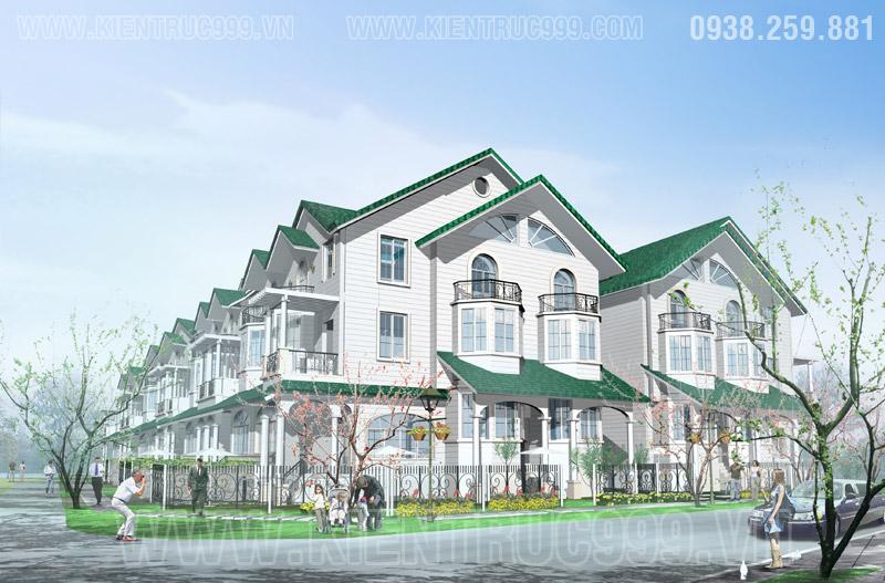 Mẫu biệt thự mái thái đẹp 3 tầng kiểu Mỹ Saigon Pearl