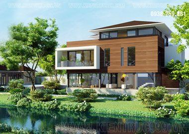 Biệt thự sân vườn mái thái hiện đại Lái Thiêu- Bình Dương