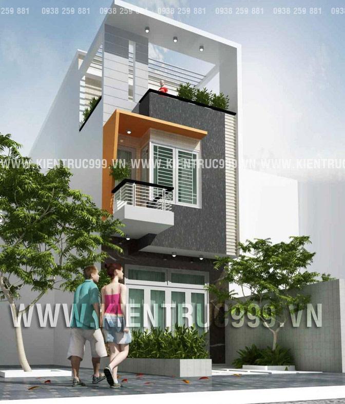 Nhà phố 2 tầng đẹp mặt tiền 4m