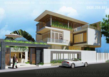 2 Mẫu nhà chữ L 3 tầng đẹp, biệt thự 2 tầng chữ L ở Mũi Né- Bình Thuận