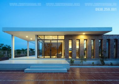 Nhà 1 tầng đẹp mái bằng hiện đại 4 mẫu chọn lọc ở nông thôn.
