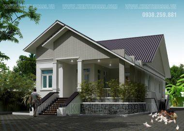 Nhà đẹp 1 tầng mái thái cực yêu ở nông thôn Bình Định