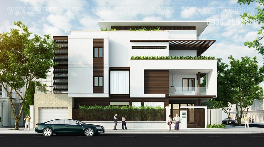 Thiết kế nhà phố 2 mặt tiền đẹp hiện đại ở Vũng tàu