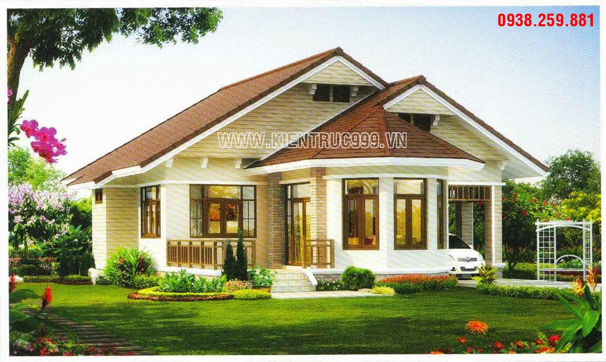 Thiết kế nhà vườn 1 tầng đẹp kiến trúc Thái lan lớn nhỏ với đa phong cách