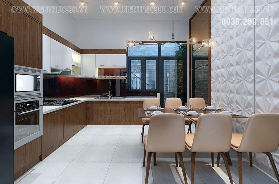 thiết kế nội thất phòng bếp tân phú cao cấp