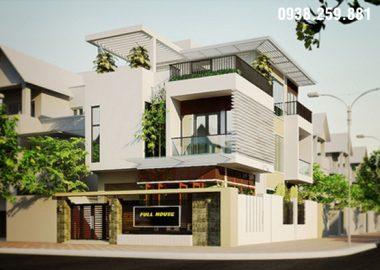 Thiết kế biệt thự 3 tầng hiện đại trẻ trung dẫn đầu xu hướng