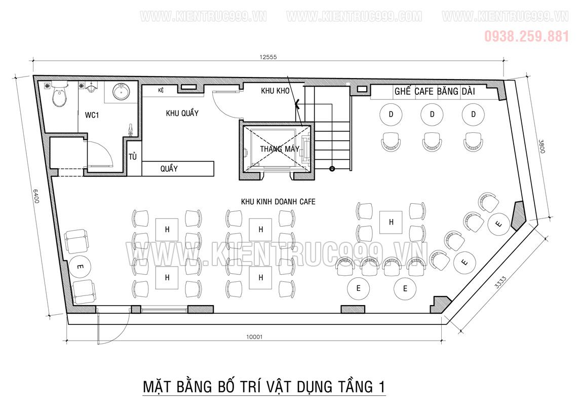 Bản vẽ thiết kế nhà 2 mặt tiền đẹp 2020 có thang máy