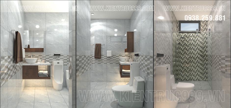 Thiết kế phòng vệ sinh với gạch ốp lát 400x800 cao cấp