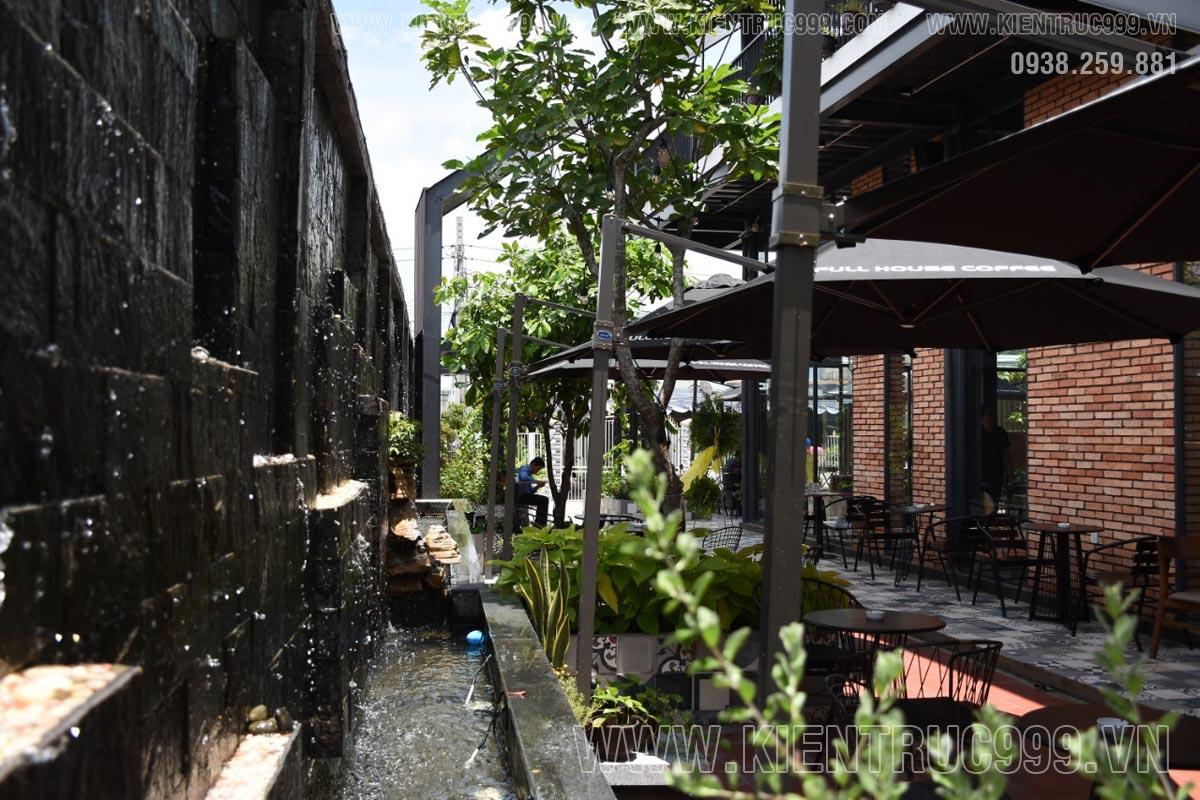 Chi phí thiết kế quán cà phê sân vườn Full House Coffee
