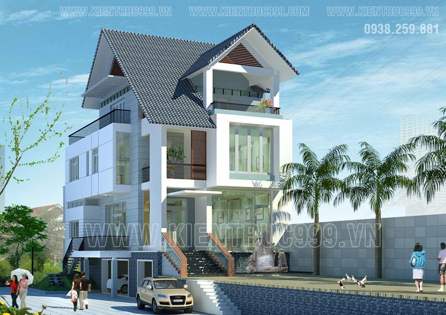 Kiểu nhà mái thái đẹp 2021