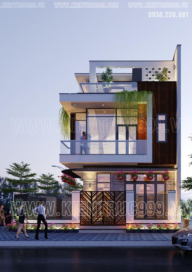 Mẫu nhà đẹp 2 tầng đơn giản Sa Đéc
