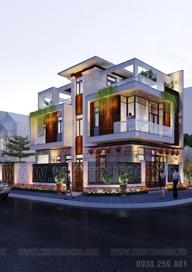 thiết kế mẫu nhà 2 tầng đẹp ở nông thôn