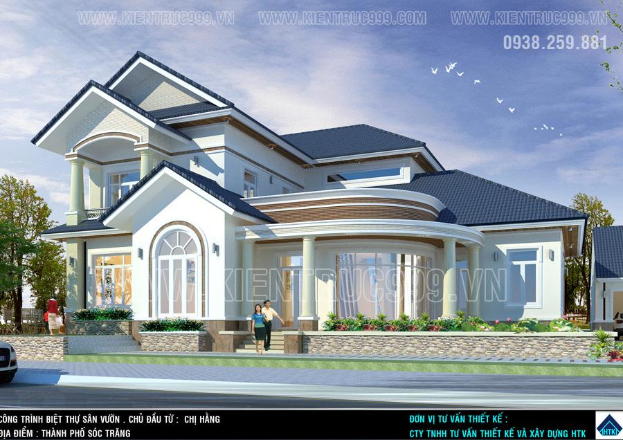 nhà 2 tầng mái thái 2021