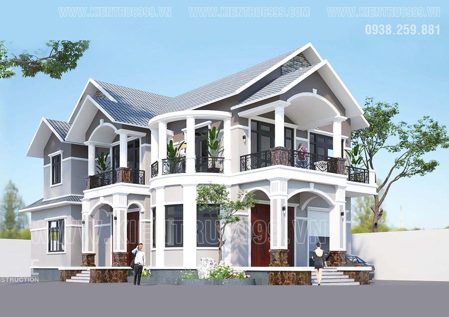 Nhà 2 tầng mái thái đẹp nhất 2021