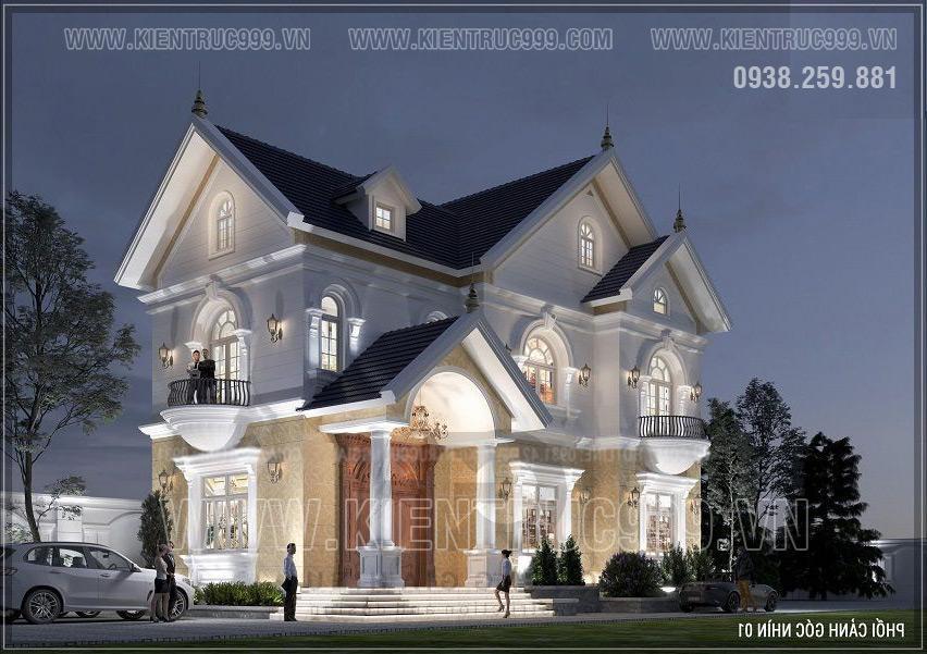 Nhà mái thái 2 tầng cổ điển