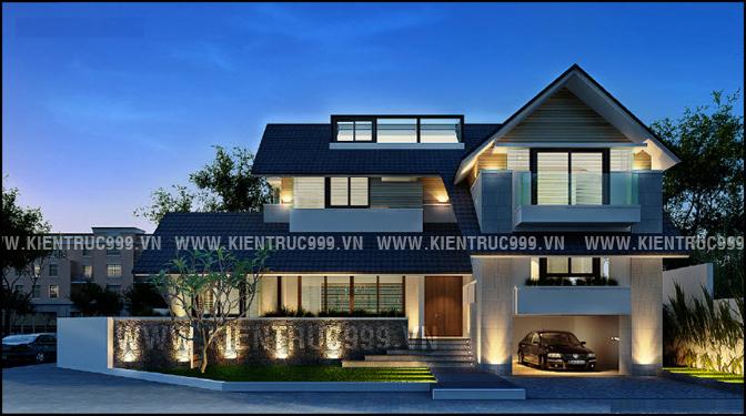 nhà mái thái đẹp hiện đại 2021