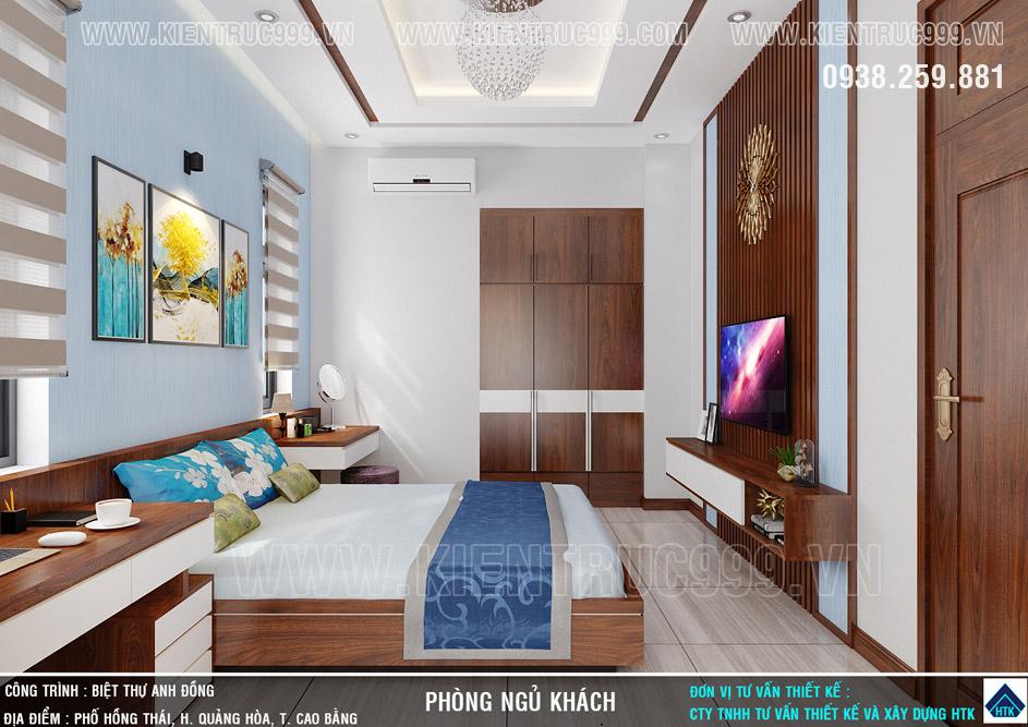 Phòng ngủ dưới tầng trệt sang trọng