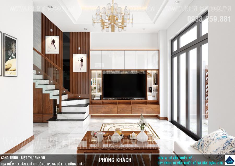 Thiết kế nội thất nhà ống 2 tầng đẹp Sa Đéc- Đồng Tháp