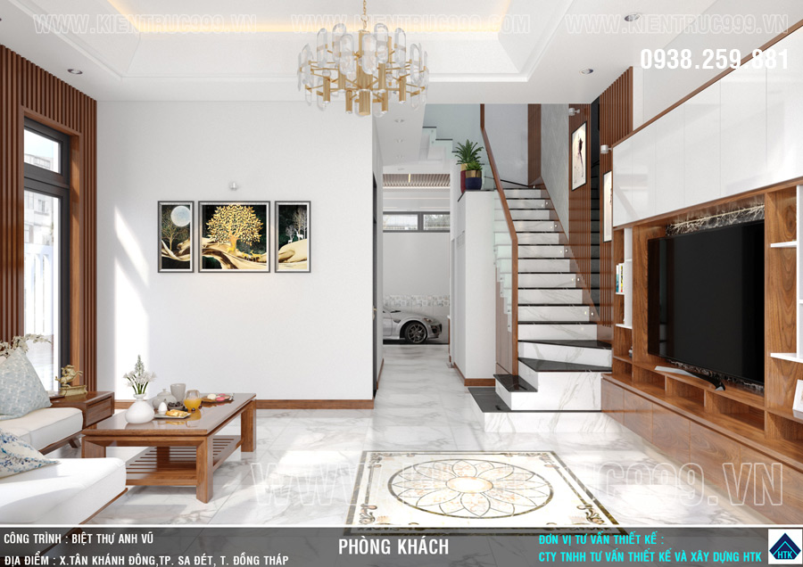 Thiết kế thi công nội thất nhà ống 2 tầng đẹp Sa Đéc- Đồng Tháp