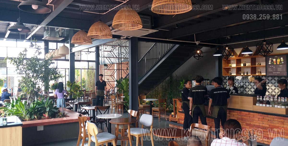 Báo giá thiết kế quán cafe khung thép