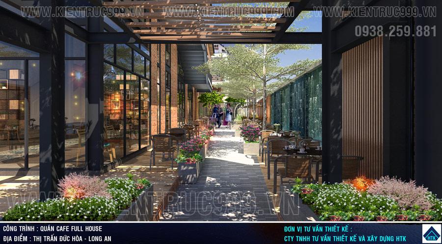 thiết kế quán cafe sân vườn mát mẻ