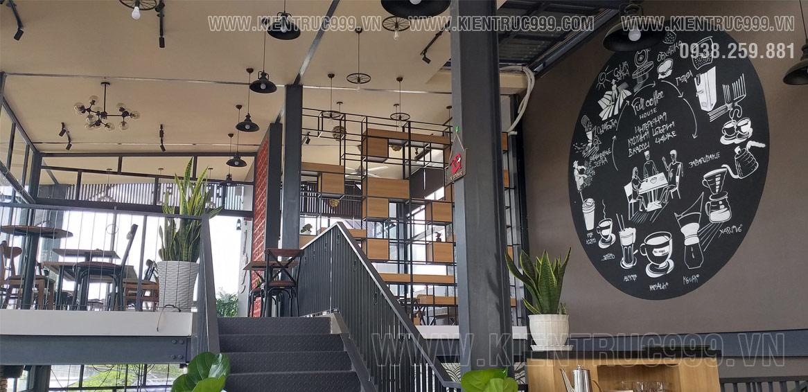 Thiết kế thi công tranh tường quán cafe Full House Coffee