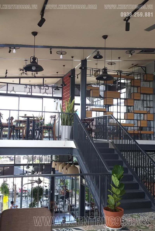 Thiết kế thi công quán cafe lệch tầng
