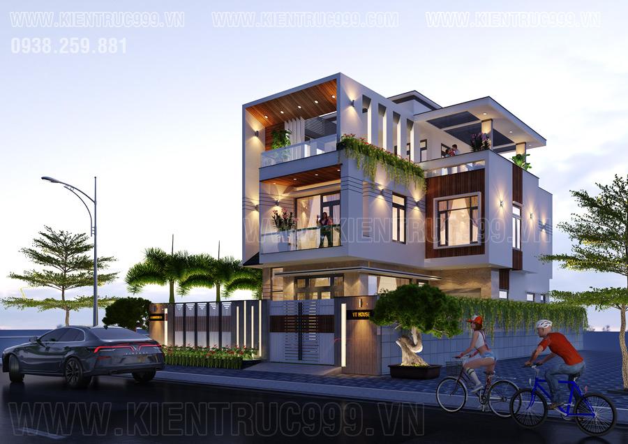 mẫu nhà đẹp 3 tầng hiện đại năm 2020