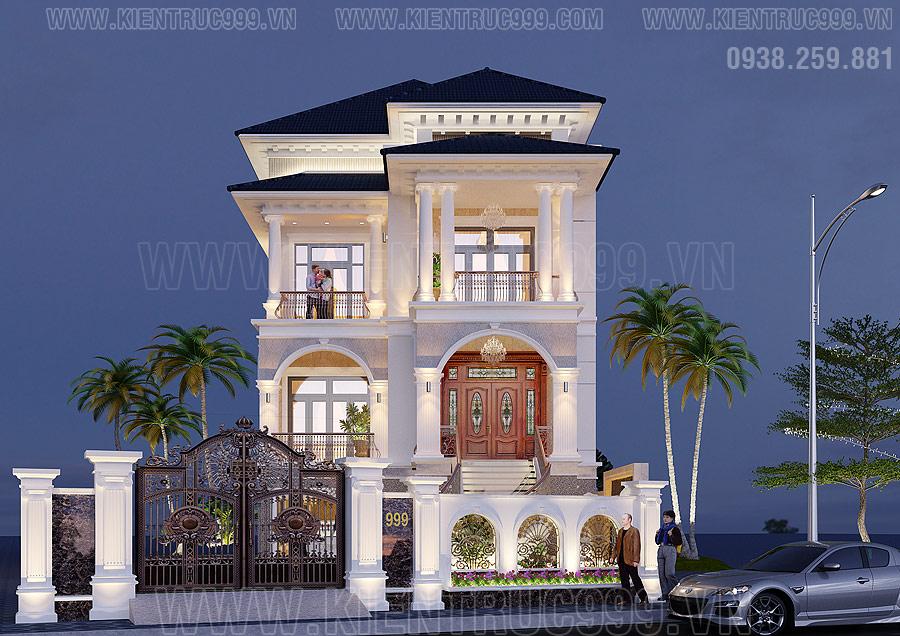 mẫu nhà đẹp 3 tầng tân cổ điển đẳng cấp quý phái