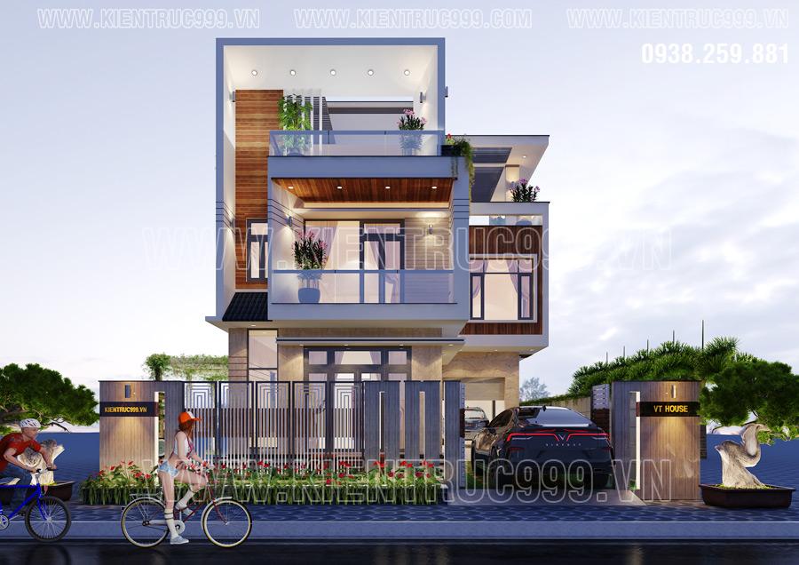 Thiết kế nhà 3 tầng đẹp nhất Đắk Lắk