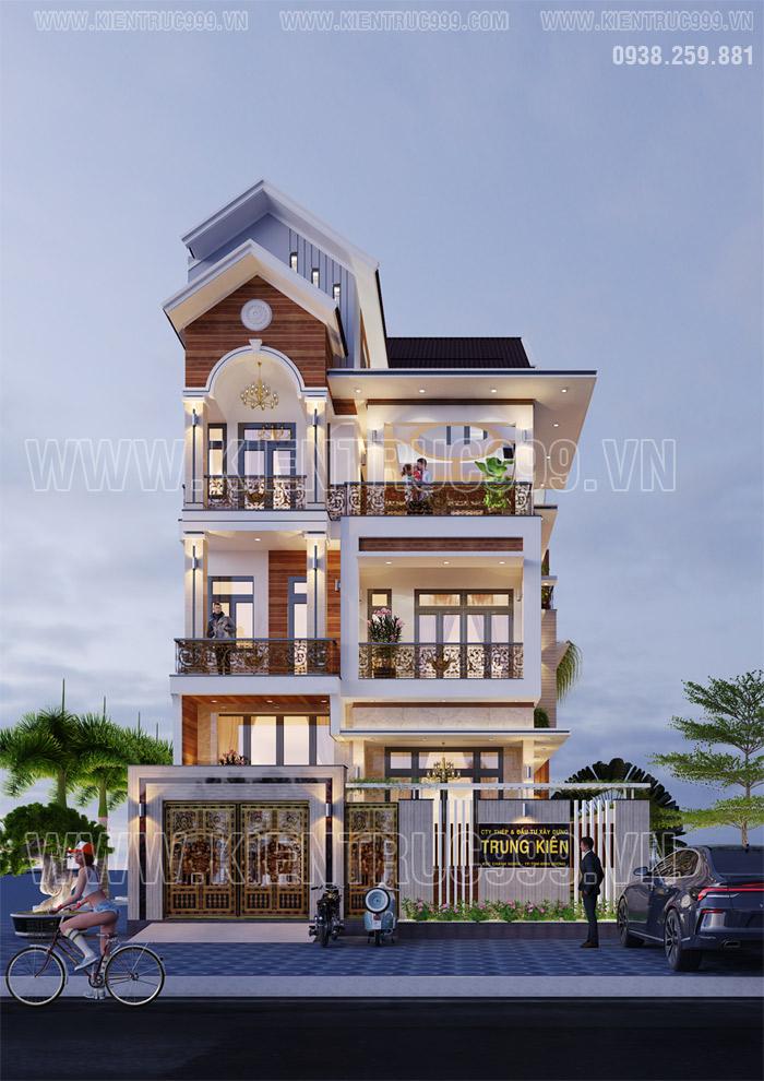thiết kế nhà đẹp 3 tầng năm 2021